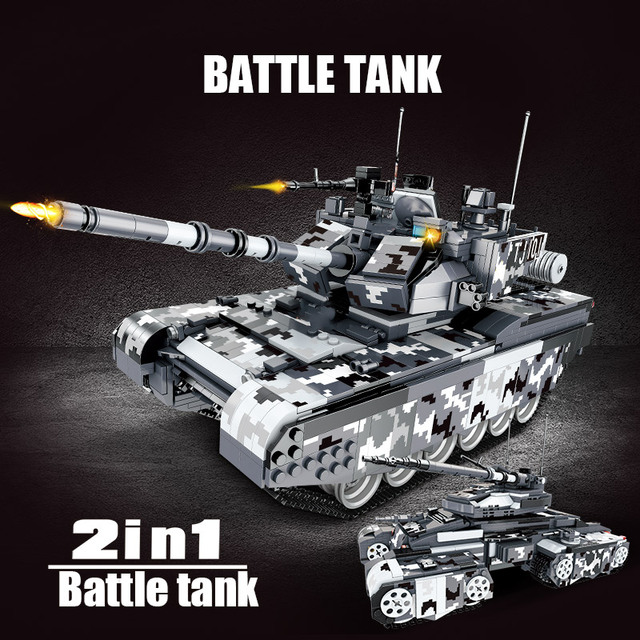 1640pcs City Missile Carrier Truck Building Blocks Military Technic WW2 99A Main Battle Tank Weapon Soldier Bricks Toys for Boys