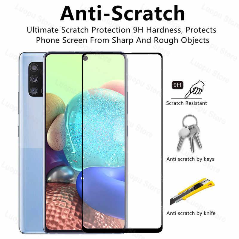 2 in 1 กระจกนิรภัยสำหรับ Samsung Galaxy A QUANTUM ฟิล์มเต็มรูปแบบป้องกันสำหรับ Samsung Q QUANTUM