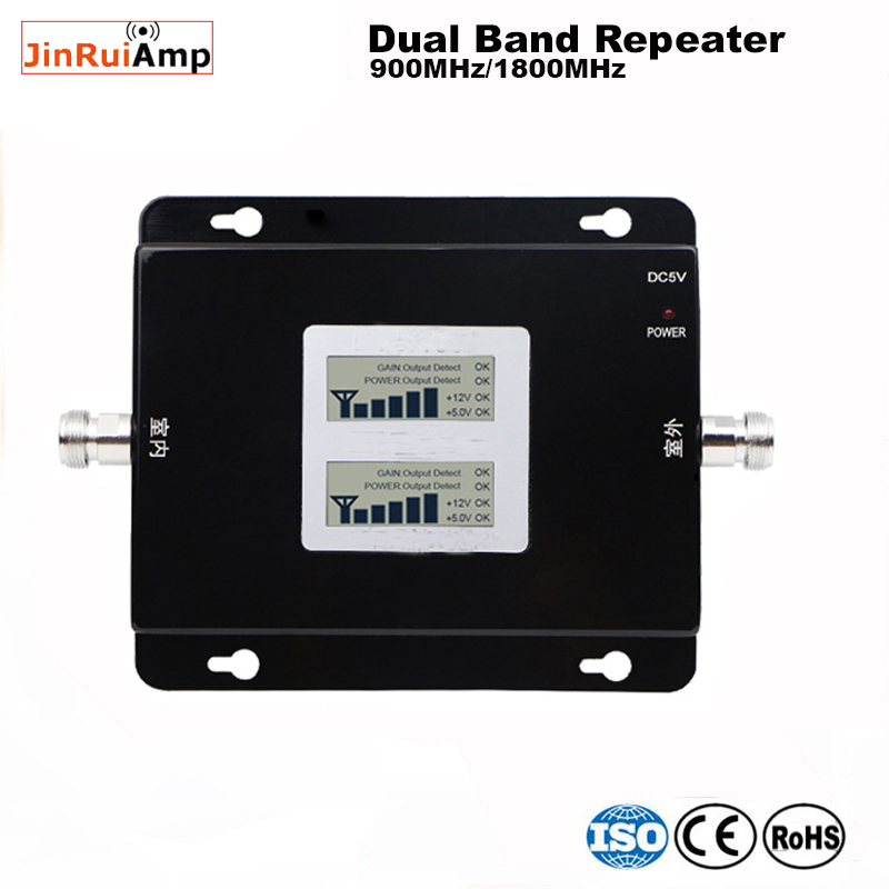 Wireless Gsm Repeater 900 1800 Dual Band Signal Booster Mobile Network Solution 2g 4g Cell Signal Amplifier Receivers With Lcd
