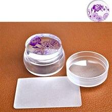 Круглый силиконовый штамп прозрачный для украшения ногтей модный