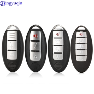 jingyuqin 3/4/5 Buttons 2006-2014 Remote Smart Key Shell Cover Case For Nissan ALTIMA MAXIMA Murano Versa Teana Sentra(China)