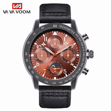 Quartz Watch Men Military Sports Waterproof Date Analogue Quartz Watch Top Brand Luxury Leather Chronograph Sports Wristwatch все цены