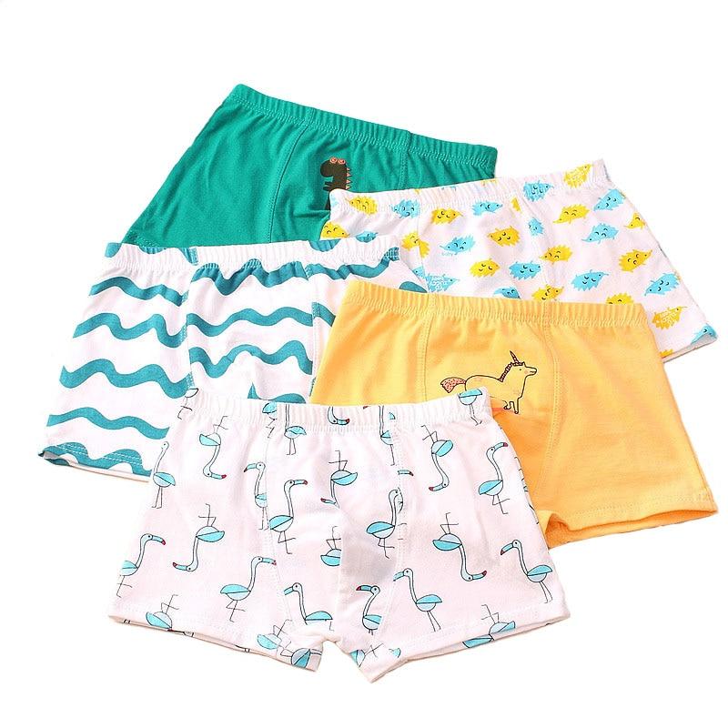 5 pcs/lot boys panties boxer children underwear male cotton shorts children underpants children cotton underwear Tobani 1
