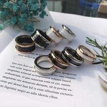 Ring-Spring Replica-Ring Couples Ceramic BV Female Ttanium Wedding Black Brand Original