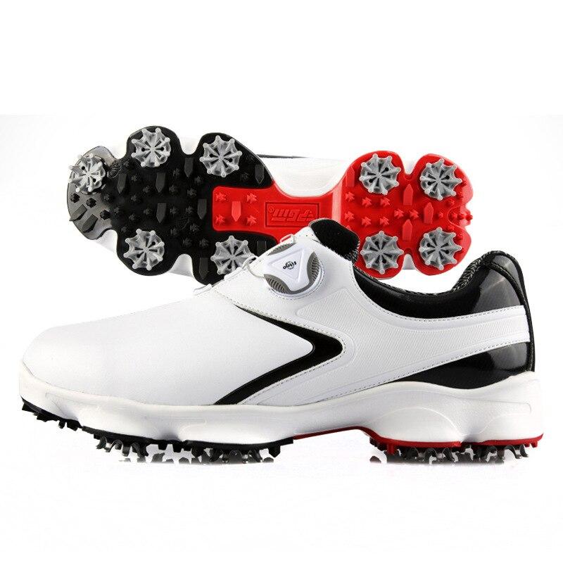 Tênis de Golfe dos Homens de Golfe Cadarços à Prova Sapatos de Golfe Sapatos de Treinamento Rotativa Dwaterproof Água Homem Atividade Prego Anti-escorregadio D0842 Pgm 2020