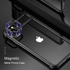 Image 2 - Yeni Metal çerçeve telefon kılıfı için Iphone11 11pro manyetik cazibe çıplak makine hissediyorum damla dayanıklı telefon kapağı Iphone11 pro max