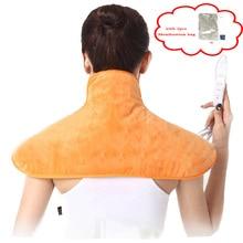 전기 등 및 목 자궁 경부 마사지 목도리 휴식 따뜻한 담요 난방 패드 뜨거운 압축 원적외선 뜸 쿠션
