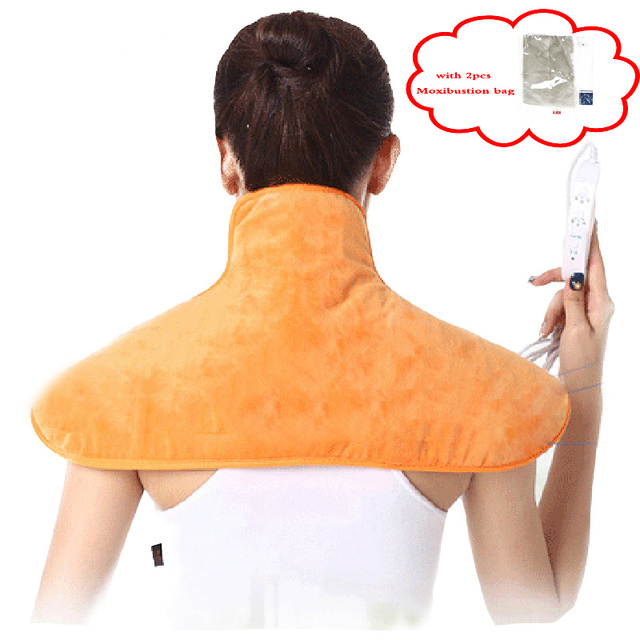 Electric Back And Neck Cervical Massage Shawl Relaxation Warm Blanket Heating Pad Hot Compress Far Infrared Moxibustion Cushion