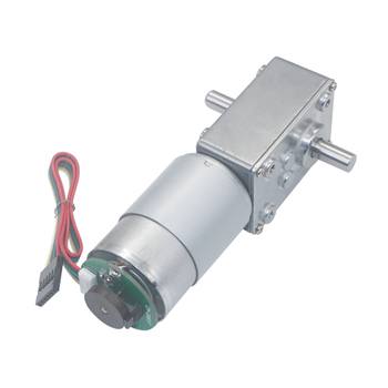 1pcs DC12V 24V 5840-555 Dual Shaft Turbo Worm Speed Reduction Gear Motor With Code Disk Encoder