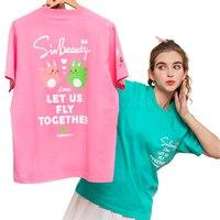 SINBEAUTY translúcida-Camiseta de manga corta para mujer, remera informal de algodón puro, calidad Natural