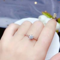 shilovem 925 sterling silver Moissanite Diamond rings women classic wedding plant new vvs 5mm bj050588agsz