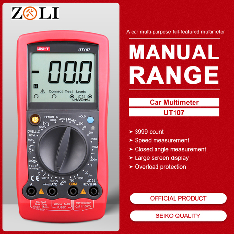 UNI-T UT107 LCD Automotive Handheld Multimeter  AC/DC voltmeter Tester Meters with DWELL,RPM,Battery Check Pakistan