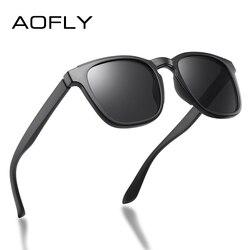 AOFLY Square Sunglasses Men Polarized 2020 Brand Design Driving TR90 Frame Travel Fishing Sunglasses Male zonnebril heren UV400