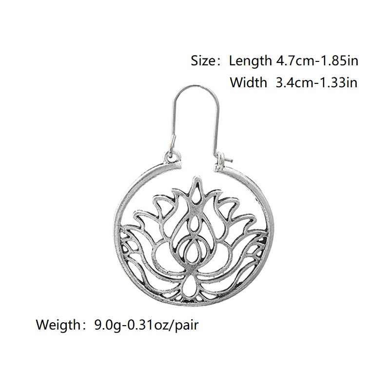 과장된 황금 보헤미안 복고풍 스타일의 대형 원형 귀걸이 드롭 모양의 귀걸이 쥬얼리 대형 섹션