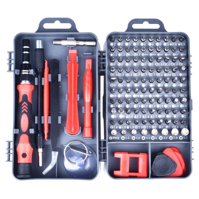 115 en 1 jeu de tournevis Mini tournevis de précision Multi ordinateur PC téléphone Mobile dispositif de réparation main outils à la maison