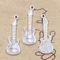 12 шт., подвески, музыкальная электическая гитара 41x14 мм, Античные Подвески из серебра, ручное изготовление, тибетские украшения