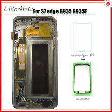 Test lcd For Samsung Galaxy LCD S7 edge G935 G935F Display Touch Screen Digitizer assembly with frame