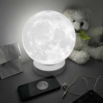 Levitating 3D Moon Lamp 360 rotated Wooden Base 10cm Night Lamp Floating Romantic Light Home Decoration for Bedroom