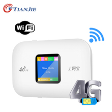 TIANJIE Unlocked High Speed Portable 3G 4G LTE Car Pocket Router Mobile Modem Wifi Hotspot with Sim Card Slot