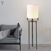 New Chinese Style Tripod Floor Lamp Fabric Shade Free Stand Lamp Modern Simple Tall Lamps for Bedroom Study Living Room Lights