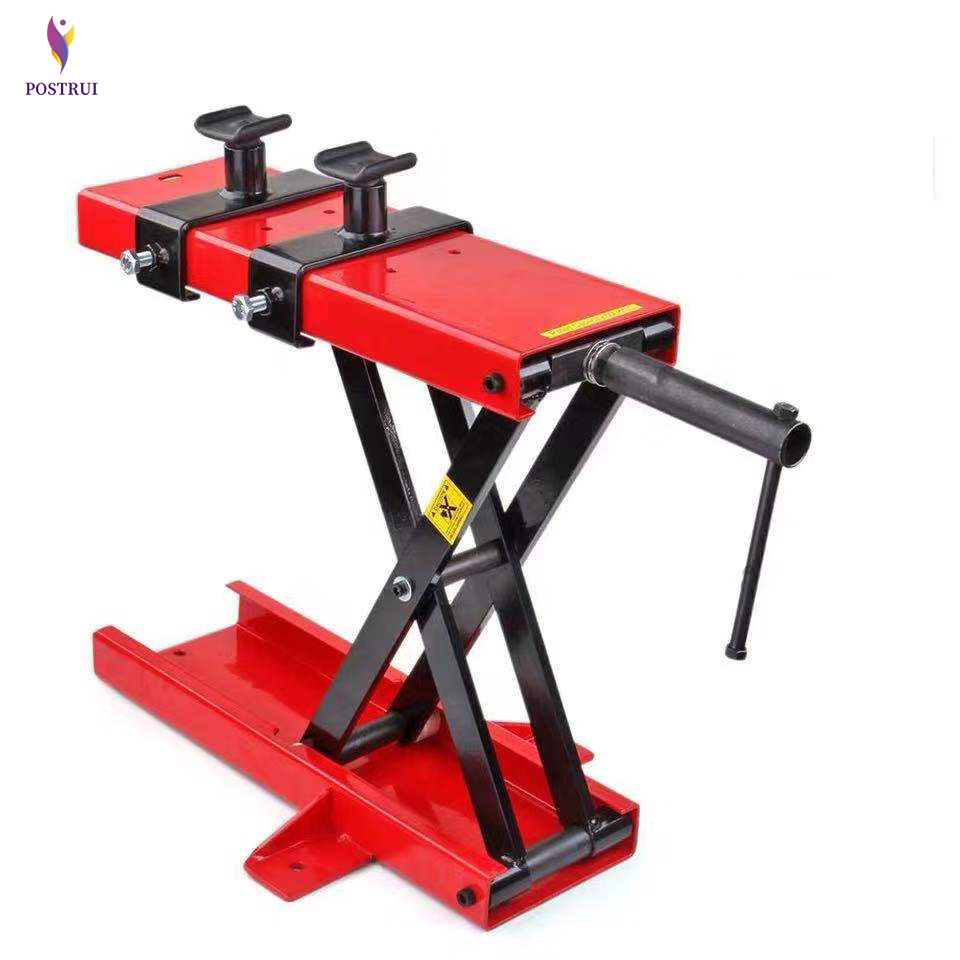 500KG Scissor Hoist Jack Lifting Cranes Motorcycle Repair Stand Center Scissor Lift Hoist Workshop Bench Lifting Tool(450*150mm)