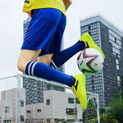 Korki męskie nowe skórzane chłopcy piłka nożna buty sportowe męskie wysokie góry trening piłki nożnej trampki dziecięce korki obuwie sportowe