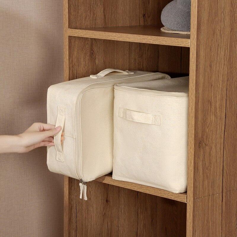 Caixas de armazenamento dobráveis 2 caixas de armazenamento com tampas e alças cestas de armazenamento em organizadores de armazenamento de algodão para brinquedos, prateleiras