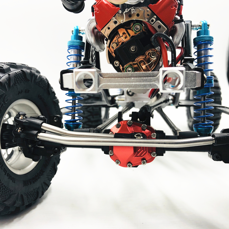 """Image 4 - New 313mm 12.3""""  inch Wheelbase Assembled CNC metal Frame Chassis for 1/10 RC Crawler Car SCX10 II kit 90046 90047 UpgradeParts & Accessories   -"""