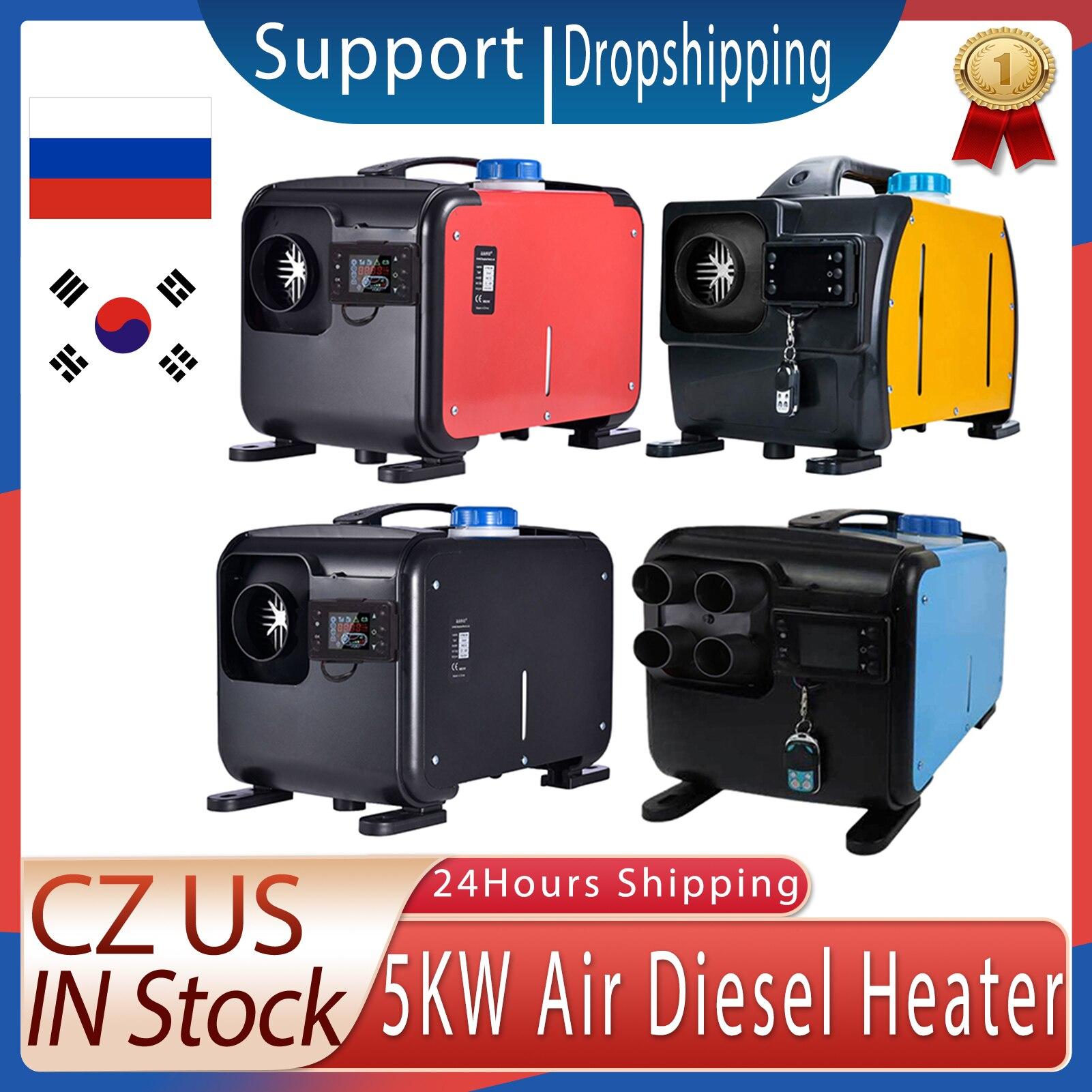 자동차 히터 Auxiliary heater 5KW 8KW Mini Diesel Air Heater 12V 24V For Trucks Motor Homes LCD Button Remote 무시동히터 일체형|Heating & Fans| - AliExpress