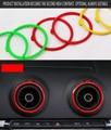 Для Audi A3/S3/RS3 седан 8 в Sline Quattro автомобиль AC Sportback воздуховыпускное отверстие Modifi Замена декоративное кольцо Крышка 2013-2015 Спортивная обувь