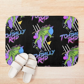 Mat Toadally Rad 3d Pattern Print Bath Mats Anti Slip Soft Washable Bathroom Mat image
