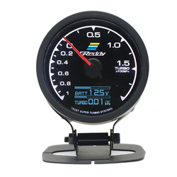 7-color liquid crystal display car 62mm lamp automatic turbocharger meter with voltmeter for general auto parts