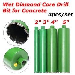 4 piezas 51/76/102/120mm núcleo de diamante broca de pared perforadora de hormigón agujero de pared de granito de mármol húmedo
