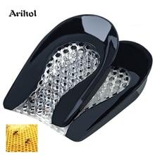 Inserciones de cojín de Gel para zapatos almohadillas de copa de talón de silicona para espuelas de hueso protectores de alivio del dolor Plantilla de fascitis