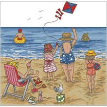 Праздничные пляжные узоры счетный крест 11ct 14ct 18ct сделай