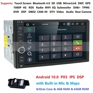 Image 2 - 4GB RAM 64GB ROM Android 10.0 Universal Car NO DVD 2DIN 7 Radio Car GPS Radio NXP6686 Multimedia Autoradio TDA7851 Automotivo