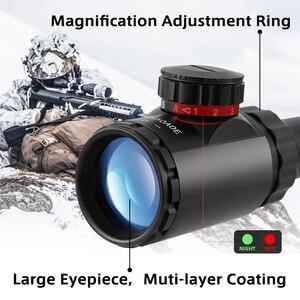 Image 3 - 6 24x50 3 9x40 охотничья оптика Регулируемый зеленый красный точечный охотничий светильник тактический прицел оптический прицел с 11 мм/20 мм