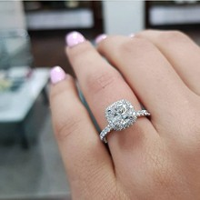 ForLove CZ Diamond Certified 100% genuine 925 Sterling Silver rings for women engagement wedding anel R820