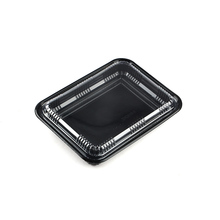 Plastic-Box Food-Packaging Sushi Fruit Meat Black Cake with Lid Salad Takeway-Tray Blister-Container