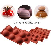 6/15/24 Holes Big Semi Sphere Chocolate Mold Silicone Food Grade Silicone Mould for Cake DIY Dessert Jelly Mousse Cady  Muffin