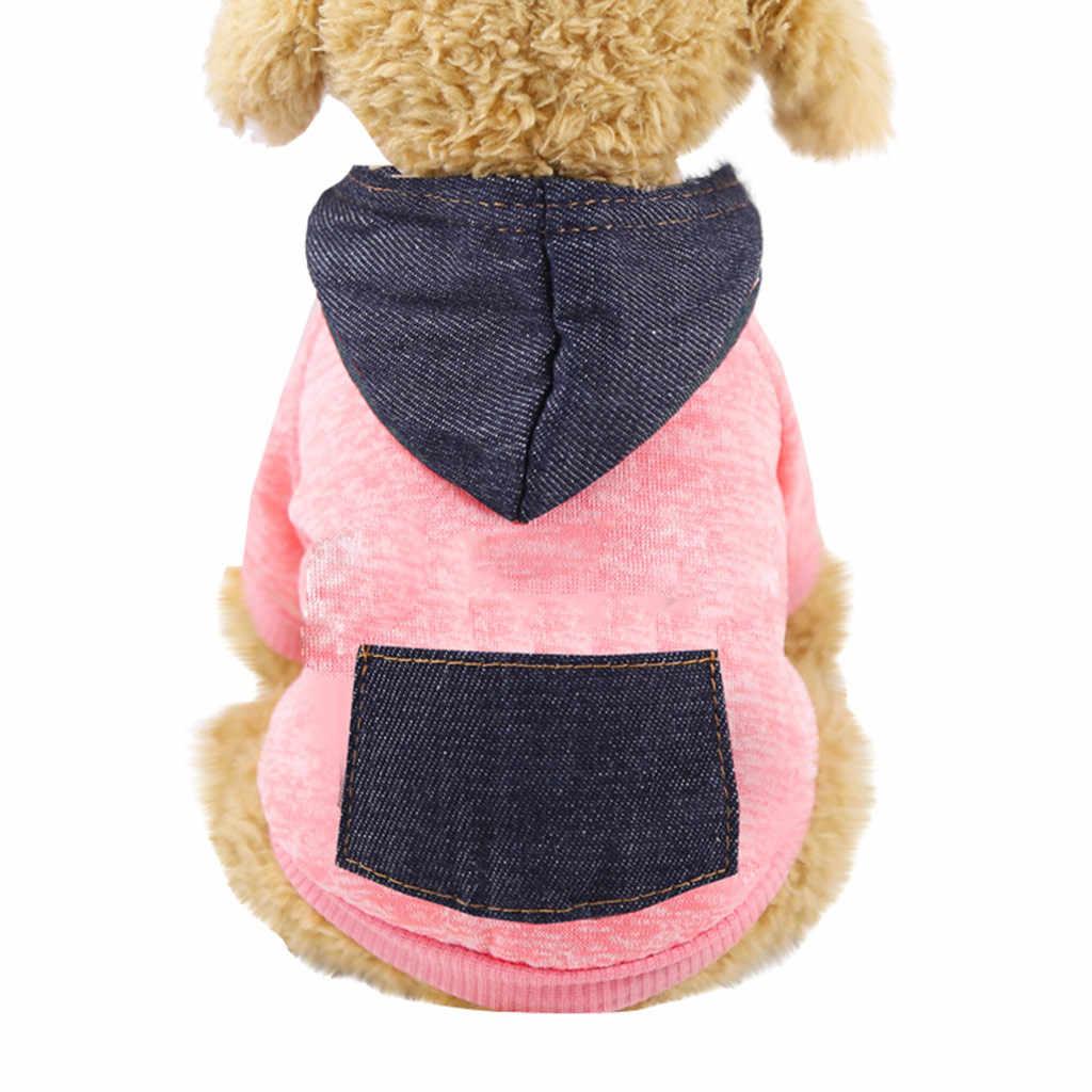 Musim Dingin Hangat Kartun Berkerudung Pakaian Hewan Peliharaan untuk Anjing Kecil Sweatshirt Kucing Lembut Kucing Anjing Mantel Jaket Anak Anjing Pakaian Kostum Persediaan
