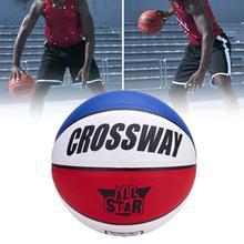 1 Set Indoor Basketball Leak-proof Fashionable Good Elasticity Professional Crossway No.7 Basketball for Kids