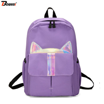 Teenager Girls School Bags for With Cats Backpack Women School Bag Student Bookbags Teen Colorful Cartoon Schoolbag Large colorful unicorn students backpack cartoon panda children school bags backpack for teenager girls book bag women laptop backpack