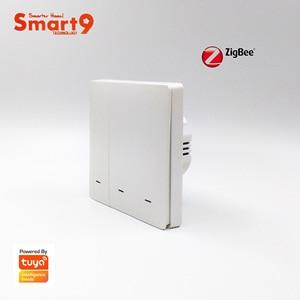 Image 4 - Tuya zigbee 허브와 함께 작동하는 smart9 zigbee 벽 스위치, smart life app 컨트롤이있는 버튼 디자인, tuya에 의해 구동