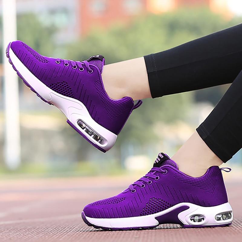 Women's sports shoes Casual woman sneakers Air mesh Cushioning Platform shoes Comfortable summer footwear Nonslip
