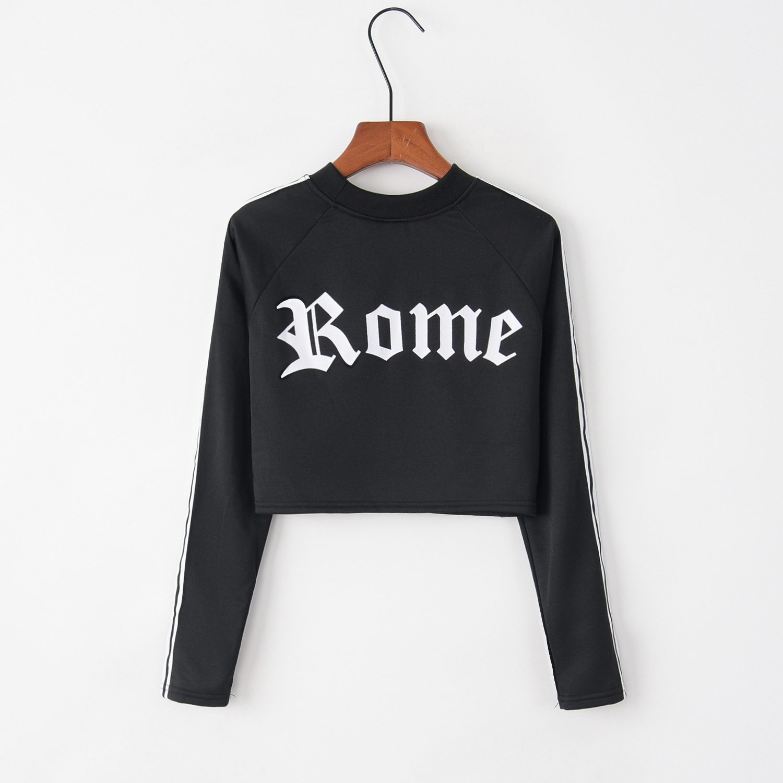 Rome Rune  Letter Print 2020 New Design Hot Sale Hoodies Sweatshirts Women Casual Harajuku Sweat Girls European Tops Korean