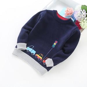 Image 4 - 2020 ילד חדש ילדי בגדי מכוניות דפוס סרוג סוודר תינוק ילד בסוודרים סוודר סריגי 2 5T ילדים ילדים סוודרים