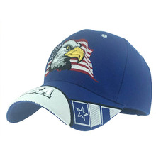 Eagle Head Embroidery Pattern Vintage Baseball Cap Unisex Letter American Flag Adjustable Snapback Hat