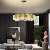 Manggic New Design Golden Ring LED Chandeliers Crystal Chandelier Lamp Modern Living Room Crystal Golden lights