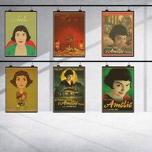 Vintage Amelie película clásica pósteres decoración del hogar kraft cartel de alta calidad papel de pared clásico 42X30CM